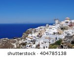 beautiful view of village oia ... | Shutterstock . vector #404785138