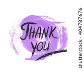 watercolor thank you grunge... | Shutterstock .eps vector #404787676