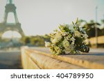 white and green wedding bouquet ... | Shutterstock . vector #404789950