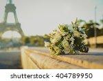 white and green wedding bouquet ...   Shutterstock . vector #404789950