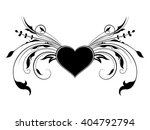 heart with floral decorations | Shutterstock .eps vector #404792794