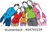 friends together illustration | Shutterstock .eps vector #404793139