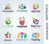 logo set for kids and family ... | Shutterstock .eps vector #404795473