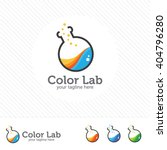 abstract color lab logo .... | Shutterstock .eps vector #404796280