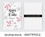 back and front save the date... | Shutterstock .eps vector #404799313