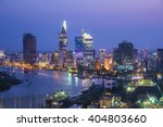 ho chi minh city view at night  | Shutterstock . vector #404803660