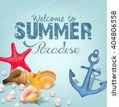 marine life elements. summer... | Shutterstock .eps vector #404806558