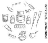 medication bottles sketch icon  ... | Shutterstock .eps vector #404816320