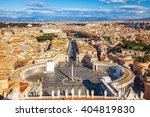 saint peter's square in vatican ... | Shutterstock . vector #404819830