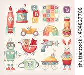 Colorful Retro Toys From The 6...