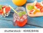 freshly squeezed orange and...   Shutterstock . vector #404828446