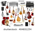 collage of musical instruments... | Shutterstock . vector #404831254