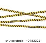 police line tapes | Shutterstock .eps vector #40483321