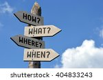 wooden signpost with four... | Shutterstock . vector #404833243