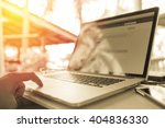 working from home by using own... | Shutterstock . vector #404836330