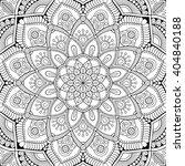 mandala. coloring page. vintage ... | Shutterstock .eps vector #404840188