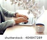 financial concept. make money...   Shutterstock . vector #404847289