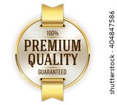 gold premium quality badge ... | Shutterstock .eps vector #404847586