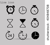 time and clock icons. vector... | Shutterstock .eps vector #404848708