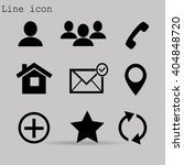 contact icons | Shutterstock .eps vector #404848720