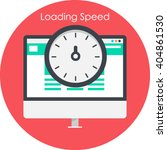 website loading speed icon | Shutterstock .eps vector #404861530