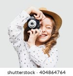 Cute Little Girl Takes Picture...