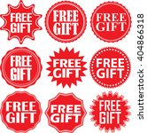 free gift red label. free gift... | Shutterstock .eps vector #404866318
