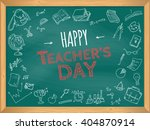 happy teacher's day. school... | Shutterstock .eps vector #404870914