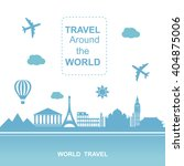 famous places. travel around... | Shutterstock .eps vector #404875006