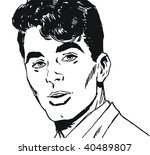 illustration of a young man s...   Shutterstock . vector #40489807