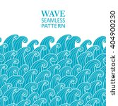 waves seamless border pattern.... | Shutterstock .eps vector #404900230