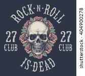 rock n roll symbol  | Shutterstock .eps vector #404900278