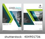 green annual report brochure... | Shutterstock .eps vector #404901736