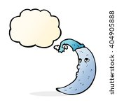 sleepy moon cartoon with...
