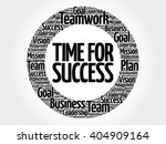time for success circle word... | Shutterstock .eps vector #404909164