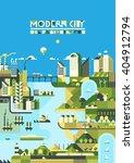 infographic   modern city ... | Shutterstock .eps vector #404912794