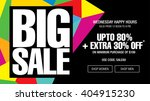 big sale banner template design | Shutterstock .eps vector #404915230