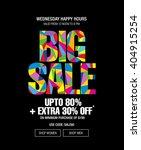 big sale banner template design | Shutterstock .eps vector #404915254