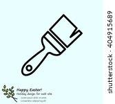 web line icon. brush for... | Shutterstock .eps vector #404915689