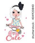 cute girl fashion girl romantic ... | Shutterstock .eps vector #404920840