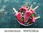 homemade blueberry ice cream or ... | Shutterstock . vector #404923816