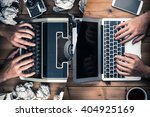 typewriters and laptop | Shutterstock . vector #404925169