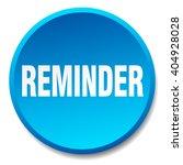 reminder blue round flat...   Shutterstock .eps vector #404928028