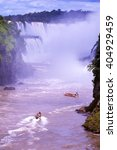 excursion boats in iguazu... | Shutterstock . vector #404929459