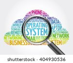 operating system word cloud... | Shutterstock . vector #404930536