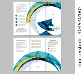 colored tri fold business... | Shutterstock .eps vector #404940160