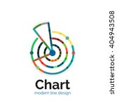 thin line chart logo design....
