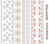 set of retro lace borders with... | Shutterstock .eps vector #404947900