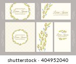 vector set of floral templates... | Shutterstock .eps vector #404952040