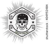 skateboarding vintage label... | Shutterstock .eps vector #404952484